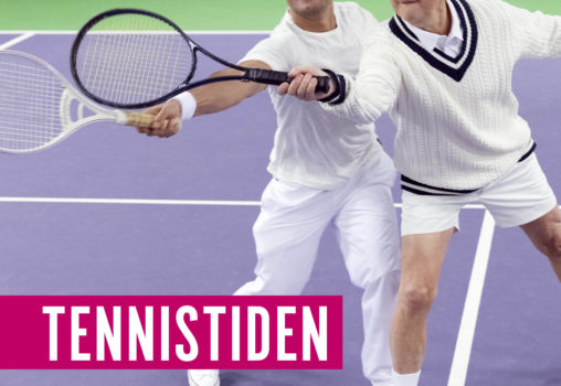 Porträtt på Tennistiden_affisch. Affischfoto Per Eriksson