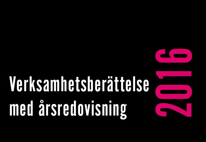 Verksamhetsberättelse med årsredovisning 2016