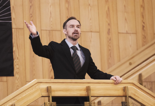 Porträtt på Hugo Emretsson. Foto Per Eriksson