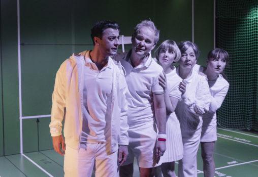 Porträtt på Tennistiden - Foto Per Eriksson -  Jasser Hetait, Yngve Sundén, Anna Granquist, Susanne Hellström och Linda Birgersson