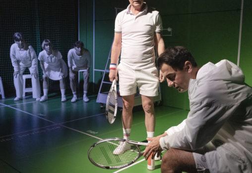 Porträtt på Tennistiden - Foto Per Eriksson - Susanne Hellström, Anna Granquist,  Linda Birgersson och Jasser Hetait