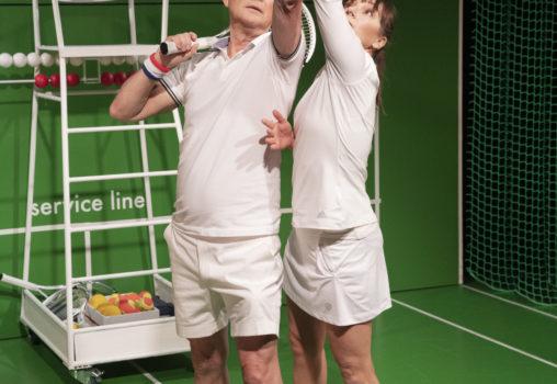Porträtt på Tennistiden - Foto Per Eriksson -  Yngve Sundén och Linda Birgersson
