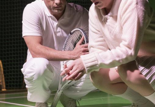 Porträtt på Tennistiden - Foto Per Eriksson -  Jasser Hetait och  Anna Granquist